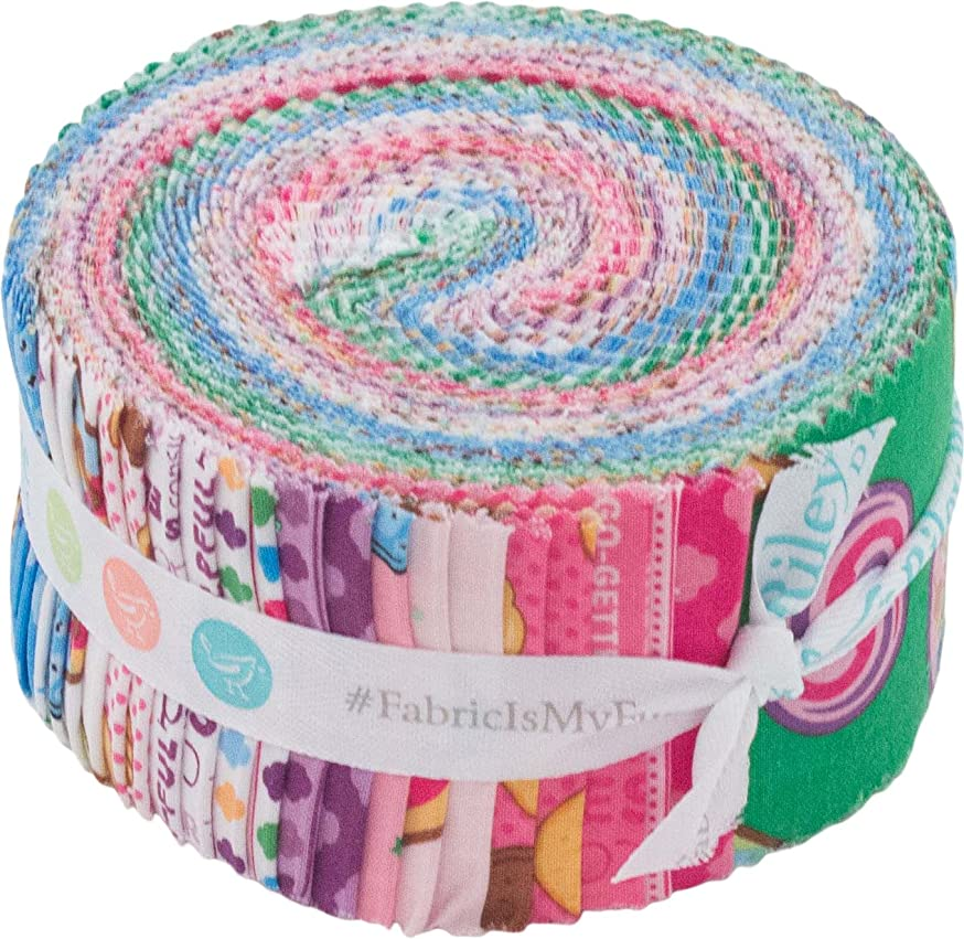 Girl Scouts Rolie Polie 40 2.5-inch Strips Jelly Roll Riley Blake Designs RP-6770-40