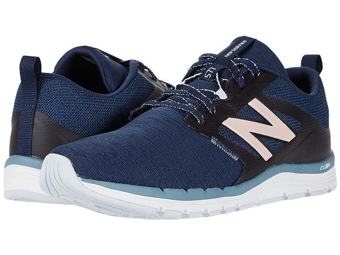 New Balance  577v5 (Natural Indigo/Deep Porcelain Blue/Peach Soda Metallic) Womens Shoes