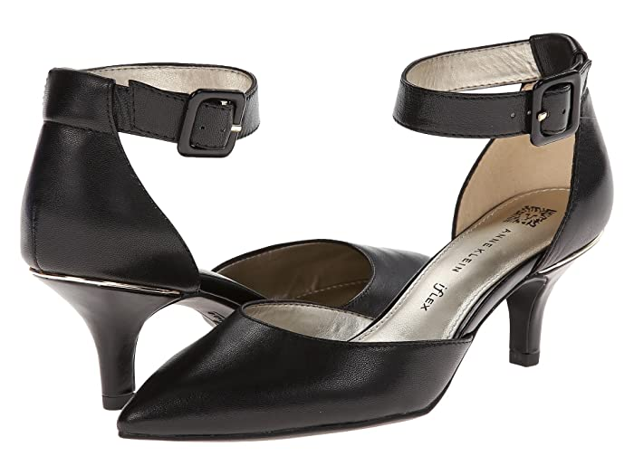 Anne Klein  Fabulist (Black Leather) High Heels