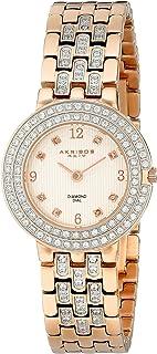 Akribos XXIV Women's AK598RG Impeccable Diamond Bracelet Watch