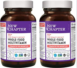 New Chapter 55+ Every Woman's One Daily Multi Whole-Food Fermented Multivitamin from Organic Vegetables, Herbs and Astaxan...