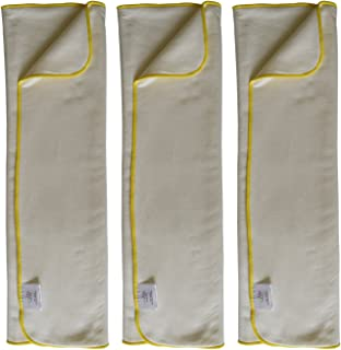 EcoAble 3-Pack Bamboo Cotton Prefold Inserts for Incontinence Cloth Diaper Covers Youth/Teen / Adult (3-Pack, Regular)
