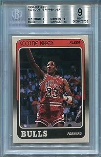 1988 Fleer Scottie Pippen Rookie Chicago Bulls #20 BGS 9 MINT (Graded Basketball Cards)