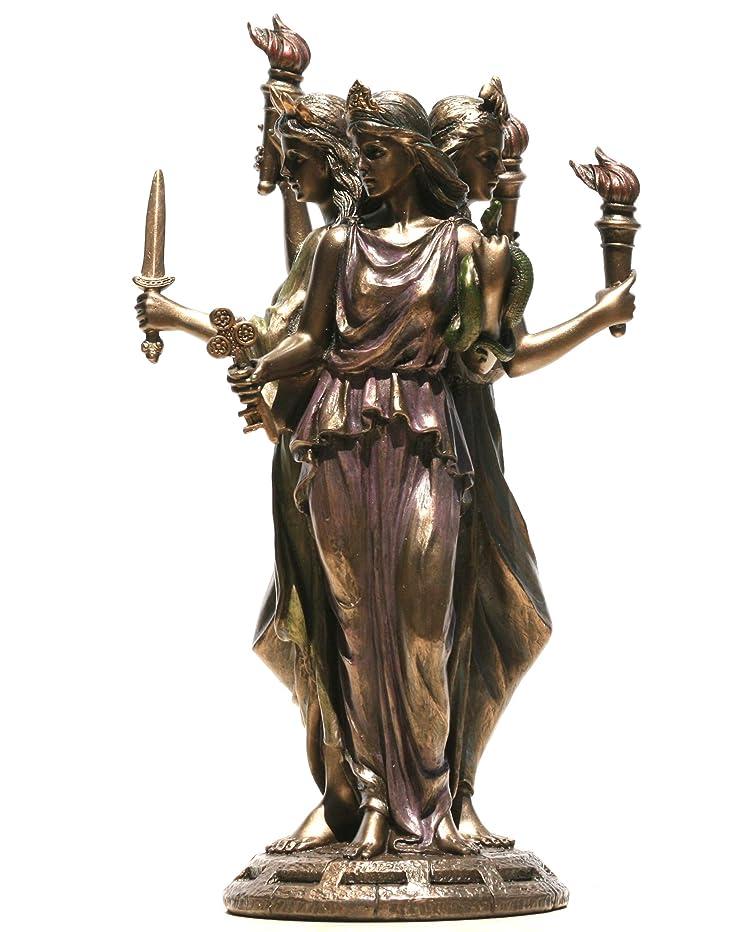 主観的誇りに思う音声ヴェロニーズ ヘカテ ヘケイト ギリシャ 魔法の女神像 彫刻 ブロンズ仕上げ 11.8インチ