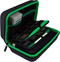 TAKECASE New 3DS XL and 2DS XL Carrying Case - Fits Wall Charger - Includes XL Stylus, 16 Game Storage, Hard Shell and Accessories Pocket (Green)