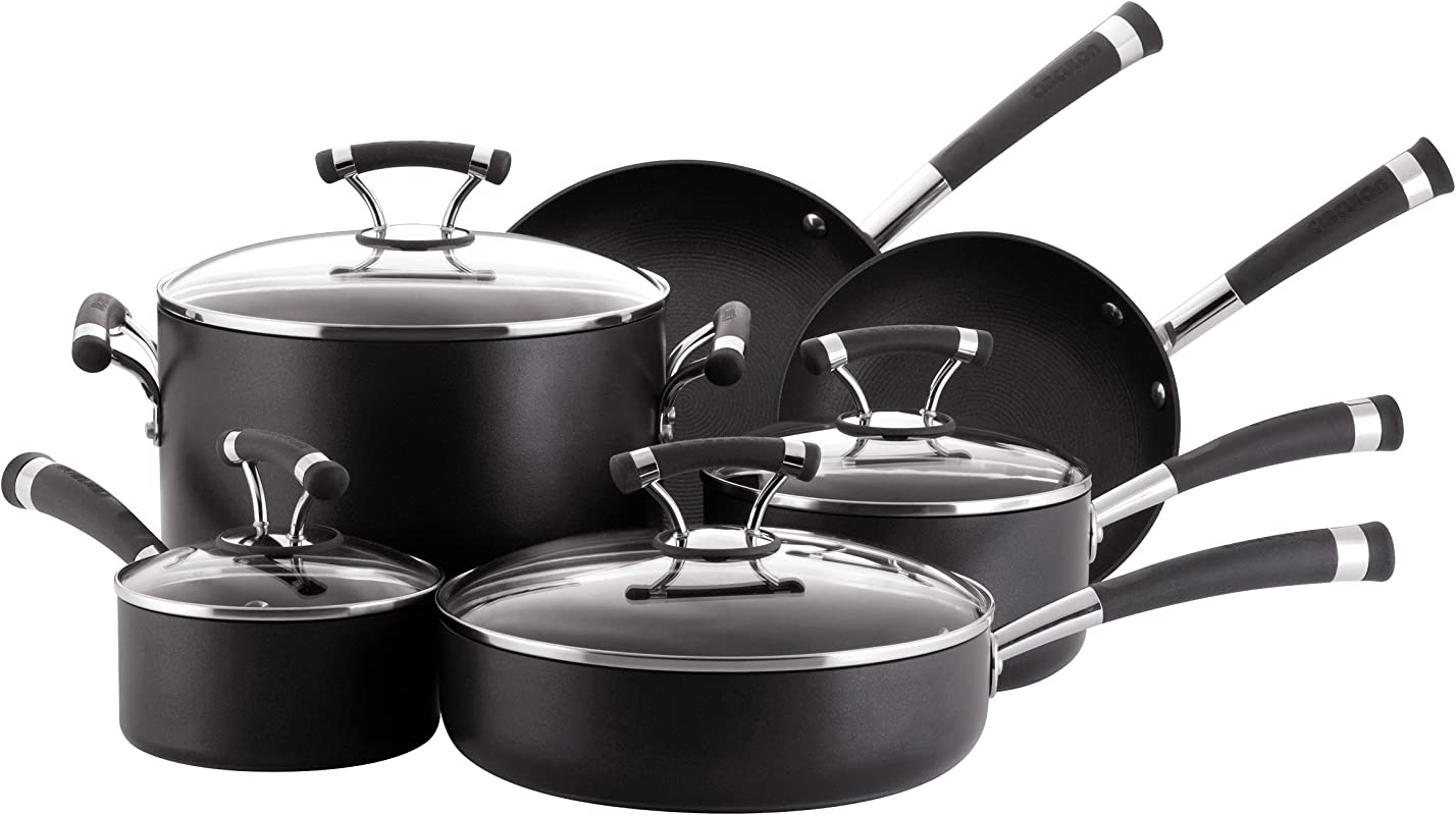 Circulon 82376 Contempo Cookware Set 10 Piece Black