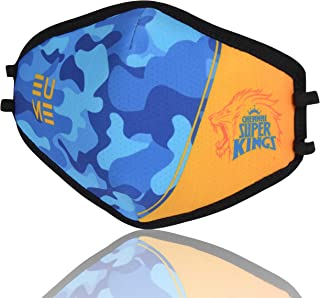 EUME Protect+ 95 (IPL- Official Chennai Super Kings Face Mask) Reusable and Washable pack of 1 Camo