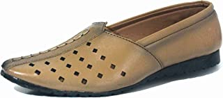 GOLDEN_HUB Men's Beige Casual Leather Shoes