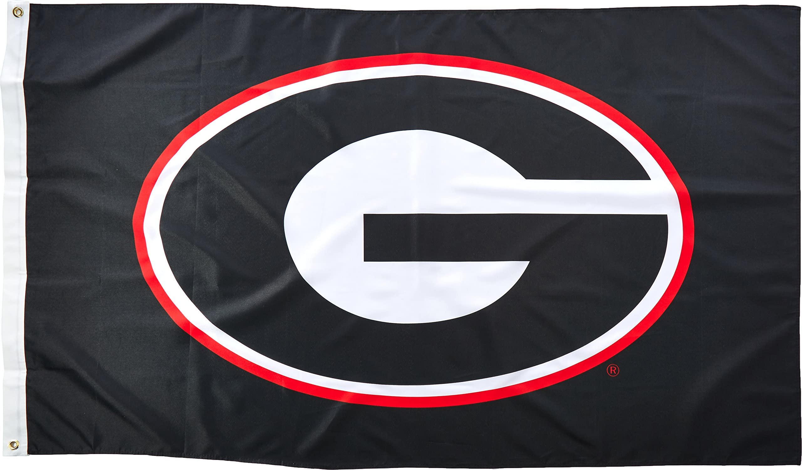 Georgia Bulldogs Double Sided Suede Team Flags 28X44 New
