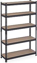 Relaxdays Rekken voor zware lasten, HBT: 153x91x30,5 cm, draagvermogen 1800 kg, 5 niveaus, voor het steken, kelder & garag...
