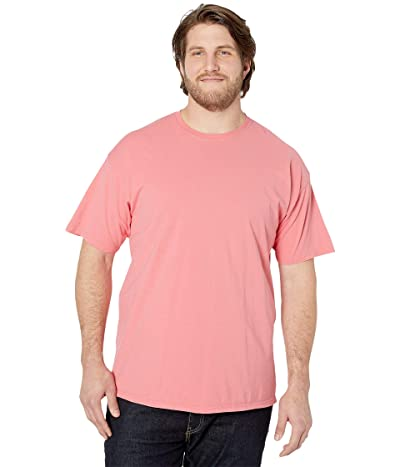 Hanes ComfortWashtm Garment Dyed Short Sleeve T-Shirt (Coral Craze) Men