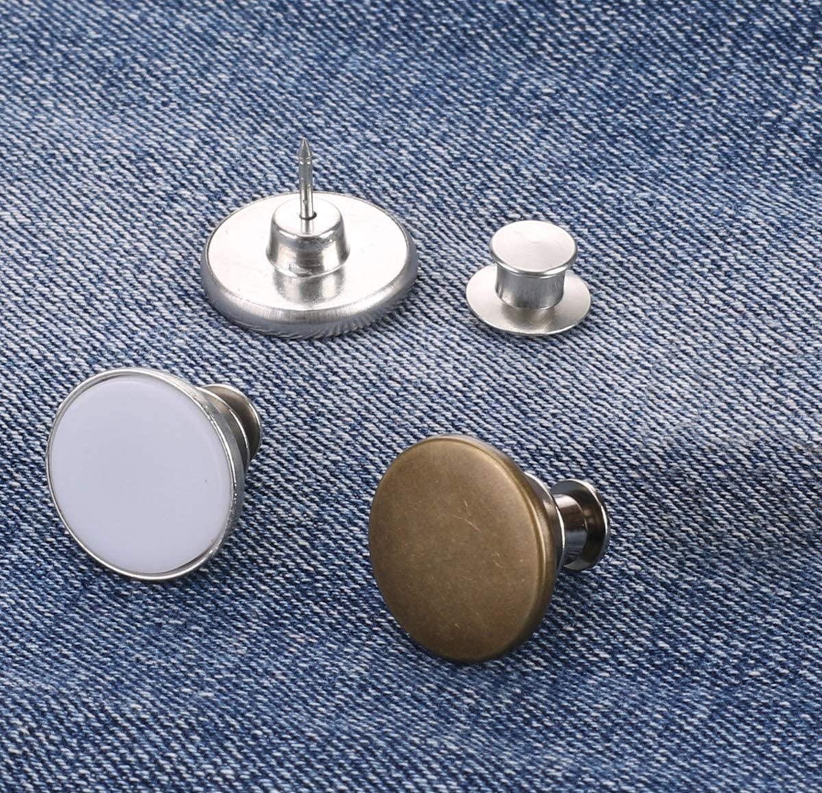 Button Jean Button Pins for Pants Fashion Jeans Swing Crafts DIY Easy to Use and No Tools Require. Button Pins for Jeans