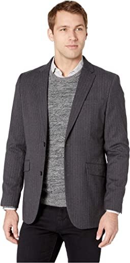 Slim Fit Stretch Heathered Stripe Sport Coat