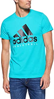 adidas Men's CW9264 Basketball Graphic Tee T-Shirt