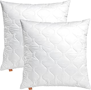 sleepling Comfort 196144 Lot de 2 Oreillers en Microfibre 65 x 65 cm, Blanc