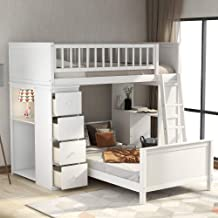 Amazon Com Kids Bunk Bed With Storage