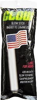 White Glow in the Dark Flag Holder & Jumbo Glow Stick