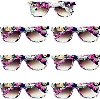 Bride Tribe Sunglasses Floral Pattern Set of 7 | Bachelorette Sunglasses for Bridesmaid Proposal Box & Bridal Shower Decorations Kit | Bachelorette Party Favors & Wedding Bridesmaids Gifts Glasses
