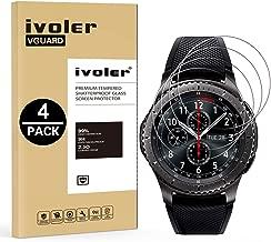 iVoler [4 Pack] Vetro Temperato per Samsung Galaxy Watch 46mm / Samsung Gear S3 Frontier / S3 Classic [Garanzia a Vita], Pellicola Protettiva, Protezione per Schermo