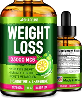 Weight Loss Drops - Appetite Suppressant for Women & Men - Made in The USA - Natural Metabolism Booster - Fast Weight Loss...