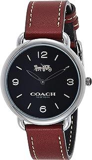 Coach Women'S Black Dial Cherry Calfskin Watch - 14502796