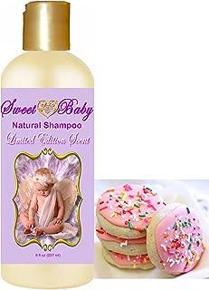 Sweet Baby Shampoo (Sugar Cookie 8 oz.), Sulfate Free, No Parabens, Phthalates, Dyes, Endocrine Disruptors, SLS Free, Vegan, Natural