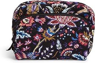 Vera Bradley Women's Signature Cotton Lay Flat Cosmetic Makeup Organizer Bag