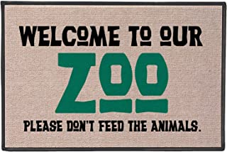WHAT ON EARTH Welcome to Our Zoo Doormat - Funny Olefin Welcome Mat - 27