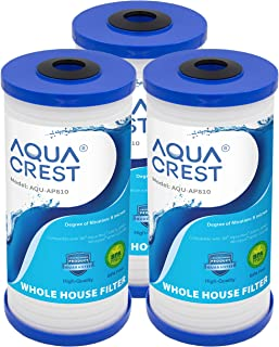 AQUACREST AP810 Whole House Water Filter, Compatible with 3M Aqua-Pure AP810, AP801, AP811, Whirlpool WHKF-GD25BB, Pack of 3