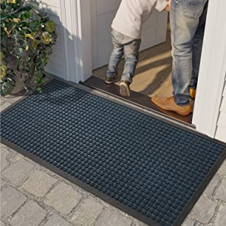 "DEXI Door Mat Indoor Outdoor Durable Rubber Doormat, 48""x24"", Waterproof, Easy Clean Low-Profile Mats for Entry, Garage, P..."