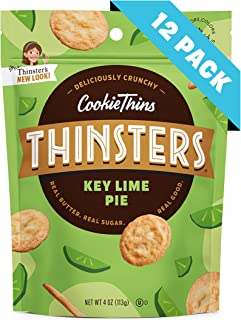 Thinsters Cookie Thins Key Lime Pie, 4 Ounce (Pack of 12), Non GMO, Peanut Free