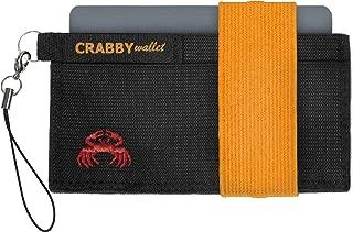 Crabby Wallet - Minimalist Wallet -Super Slim - Secure Elastic Construction