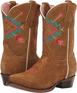 Tan Suede Leather Vamp & Shaft/Aztec Embroidery