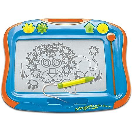 TOMY - Ardoise Magique Megasketcher T6555, Tablette Dessin Idéal Pour les Voyages, Tableau Magnétique Effaçable Adapté aux Enfants de plus de 3 ans