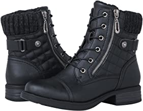GLOBALWIN Women's Ankle Booties Fashion Combat Boots