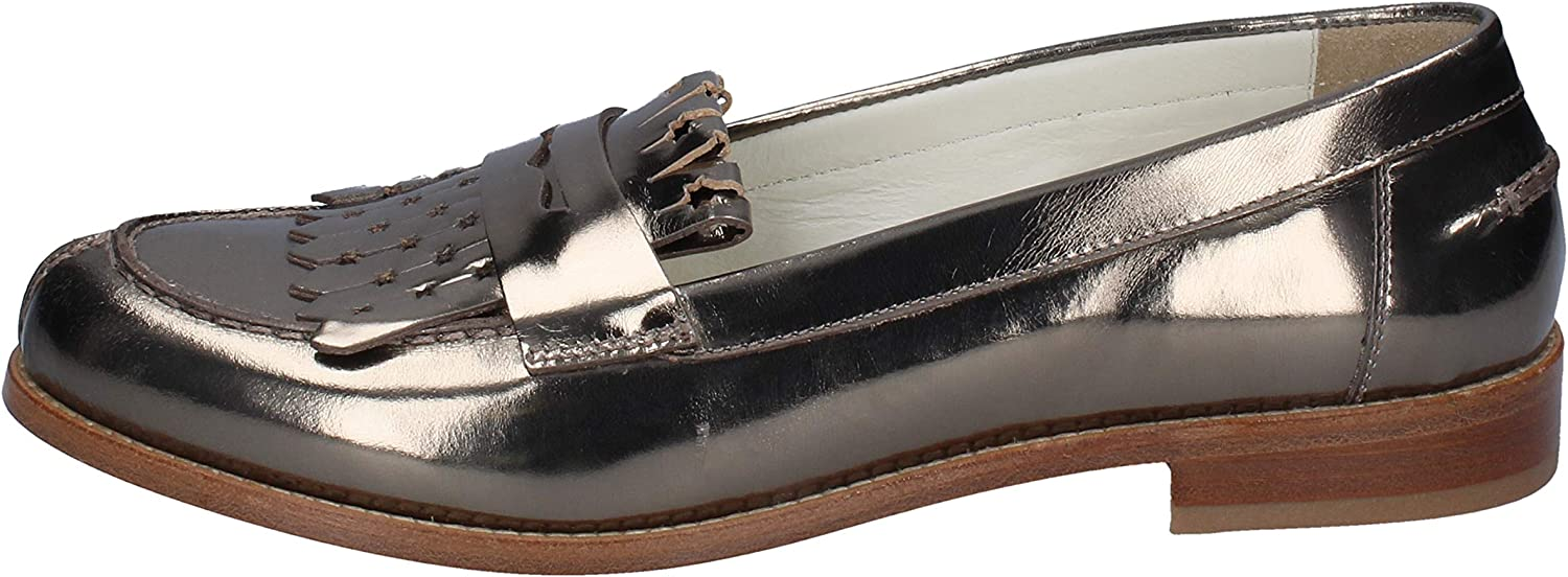 TRIVER FLIGHT Loafers-shoes Womens Leather Bronze