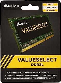 Corsair CMSO8GX3M1C1600C11 8GB(1X8GB) 1600MHz PC3-12800 204-Pin DDR3L SODIMM Laptop Memory 1.35V
