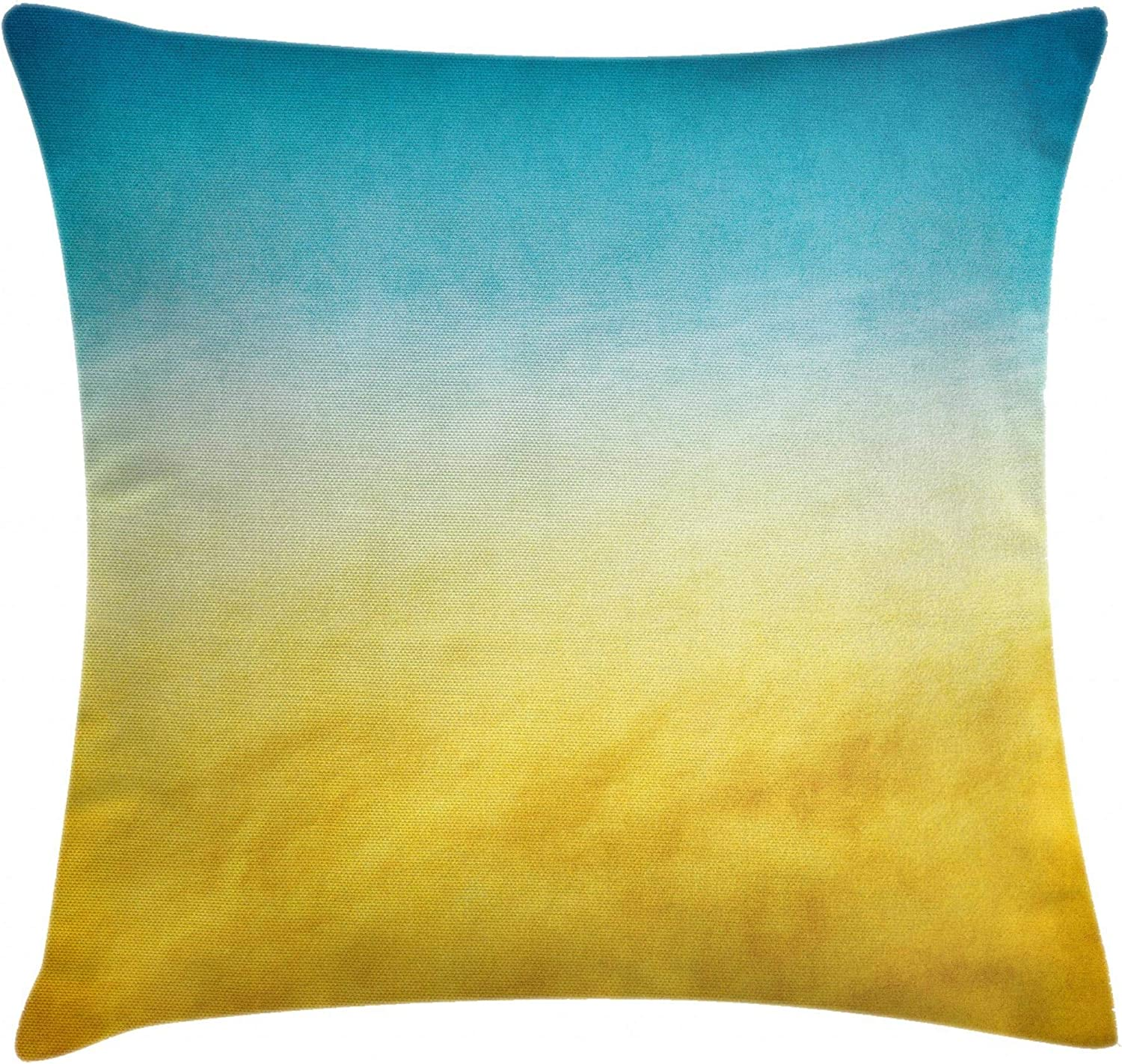 Ambesonne Yellow and Blue Throw Waves Cushion Pillow Surf San Diego Mall 70% OFF Outlet Cover