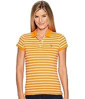U.S. POLO ASSN. - Short Sleeve Striped Jersey Polo Shirt