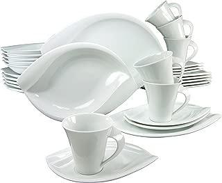 CREATABLE Dinner Ware Set, Porcelain, White, 50 x 34 x 30 cm