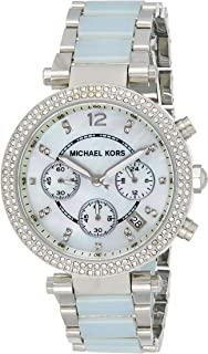 Michael Kors Parker Watch for Women - Analog Stainless Steel Band - MK6138