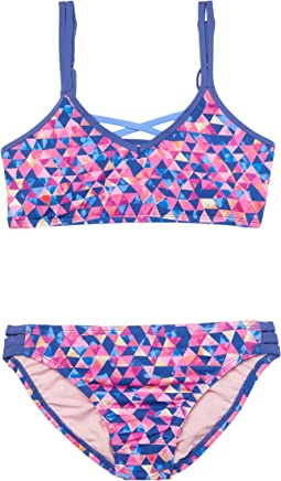 Geomania Strappy Bralette and Hipster Bottoms (Big Kid)