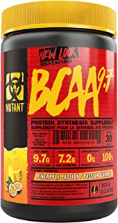 Mutant BCAA 9.7 – Supplement BCAA Powder with Micronized Amino Acid and Electrolyte Support Stack – 363 g – Pineapple Passion