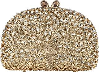Fawziya Wishing Tree Pattern Bling Clutch Purse Rhinestone Crystal Clutch Bag