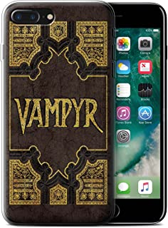 Phone Case for Apple iPhone 7 Plus Vampire Slayer Vampyr Book Design Transparent Clear Ultra Soft Flexi Silicone Gel/TPU Bumper Cover