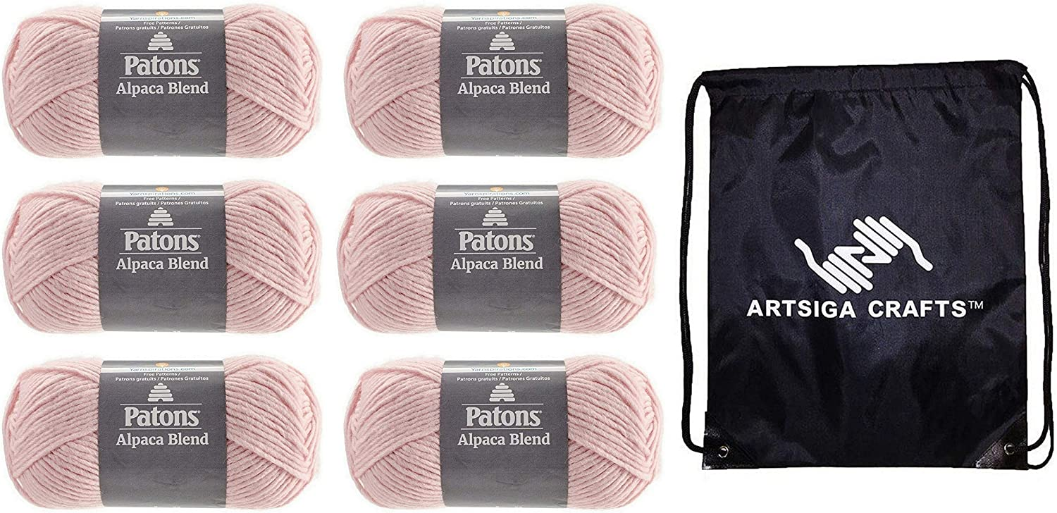 Patons Cheap mail order specialty store Knitting Yarn Alpaca Natural Factory 6-Skein 1 year warranty Peony Blends