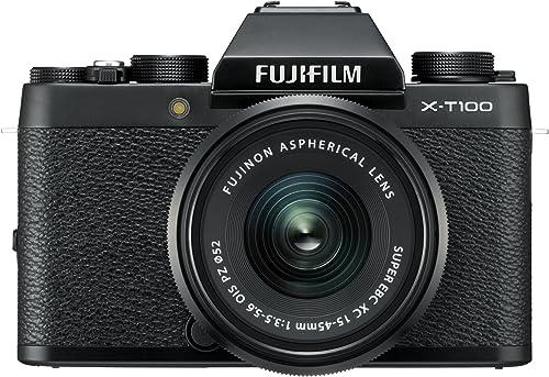 Fujifilm X Series X-T100 24.2MP Mirrorless Camera (Black) with XC15-45mm Lens Kit product image