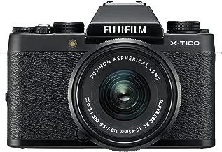 Fujifilm X-T100 Mirrorless Digital Camera w/XC15-45mmF3.5-5.6 OIS PZ Lens - Black