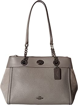 COACH - Turnlock Edie Carryall in Mixed Leather