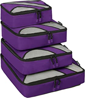 4 Set Packing Cubes,Travel Luggage Packing Organizers Purple